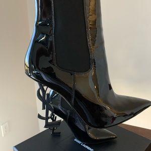 Saint Laurent Black Opyum Boots/Booties